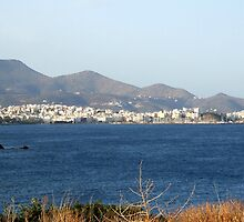 View of Mountains from Water Inlet on Island of Crete in Greece 6 by JaguarJulie