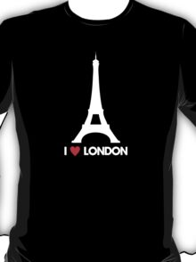 I Heart London Eiffel Tower - Joke T-Shirt  T-Shirt