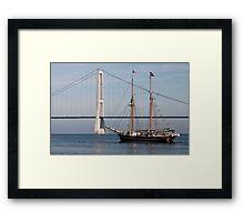 Great Belt Bridge and Britta Framed Print