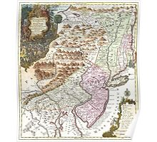 New England Ancient Map (1756) Poster