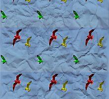 Crumpled birds by Shanshan