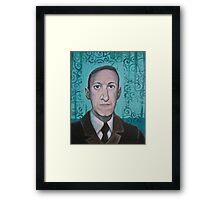 HP Lovecraft second portrait Framed Print