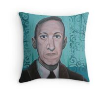 HP Lovecraft second portrait Throw Pillow