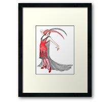 Scarlet Flapper  Framed Print