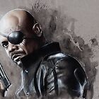 Nick Fury by chickenhead