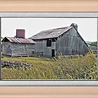 Nostalgic Old Barn ... the Back Side ... matted and framed by © Bob Hall
