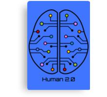 Human 2.0 - Brain Circuit Canvas Print