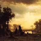 Bierstadt Albert An Indian Encampment by naturematters
