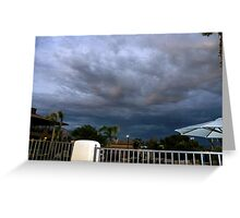 Storm is brewing in Tucson Greeting Card