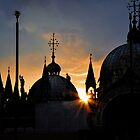 Sunrise St Marks Basilica . Venice by David J Baster
