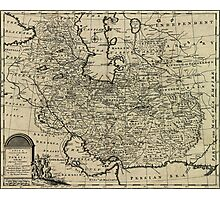 Persia Ancient Map 1747 Photographic Print