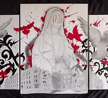 Untitled 3 piece canvas set by asvone