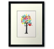 Sleep All Day (Alphabet tree) Framed Print