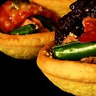 Tuna, Green Bean & Tomato Tartlets with Black Olive Tapenade by David Mellor