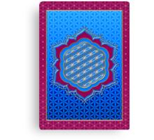 Flower of life, sacred geometry, Metatrons cube, symbol healing & balance   Canvas Print