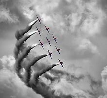 The Red Arrows - Moody Sky - Dunsfold 2013 by Colin  Williams Photography