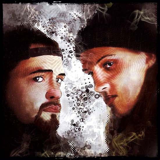 Jay and Silent Bob Stare Down by themighty