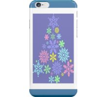 Colorful Snowflake Christmas Tree iPhone Case/Skin