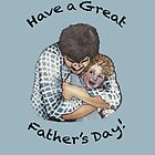 Happy Father's Day Card by Elizabeth Aubuchon