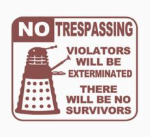 No trespassing - Doctor who by alemag