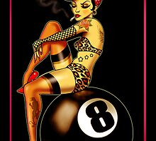 Rockabilly Eightball Pinup by ScreamingDemons