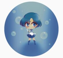 "3.0"" Sailor Mercury Chibi Sticker by AndreaJacqLee"