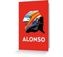 Fernando Alonso 2013 Season Helmet  Greeting Card