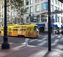 San Francisco Vintage Streetcar on Market Street 5D19798 by Wingsdomain Art and Photography