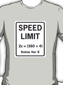 Speed Limit Math Equation T-Shirt