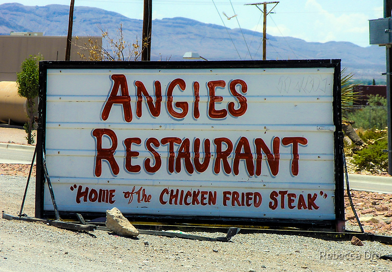 Angie's Restaurant In Fort Hancock...We Should've Stopped by Rebecca Dru