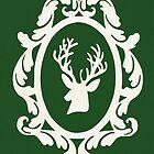 Christmas Card - reindeer - green by MrsTreefrog