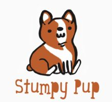 Welsh Corgi T-Shirt Stumpy Pup Cute by geekchicprints