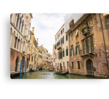 Romantic Gondola Rides, Venice Canvas Print