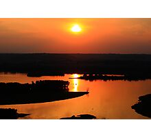 Sunset Over Old Man River Photographic Print