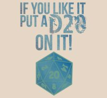 D20 Geeky Awesome Typography Tee & Print by geekchicprints
