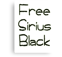 Free Sirius Black  Canvas Print