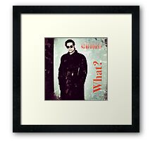what? no red pill? Framed Print