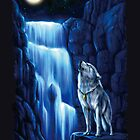 Fall wolf under the moon by NZwolf
