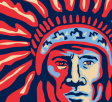 Native American Indian Chief Warrior Retro Sticker