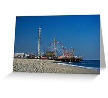 Funtown Pier - As It Was Greeting Card