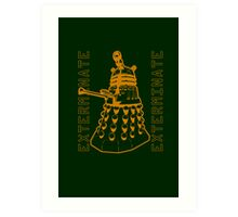 Exterminate Classic Doctor Who Dalek Graphic Art Print