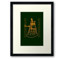 Exterminate Classic Doctor Who Dalek Graphic Framed Print