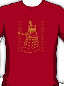 Exterminate Classic Doctor Who Dalek Graphic T-Shirt