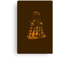 Funky Camo Sneaky Dalek Canvas Print