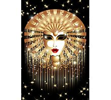Golden Venice Carnival Mask  Photographic Print