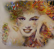 Marilyn Glass Art by ArtByRuta