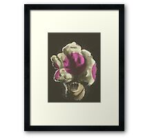 Mushroom Kingdom clicker [Pink] - Mario / The Last of Us Framed Print