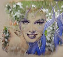 Marilyn Glass Art 2 by ArtByRuta