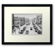 Vintage Downtown Dover Framed Print