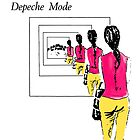 Depeche Mode : Singles calendar paint cover by Luc Lambert